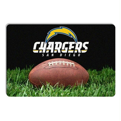San Diego Chargers Classic Football Pet Bowl Mat