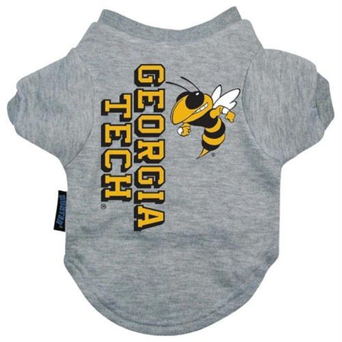 Georgia Tech Heather Grey Pet T-Shirt
