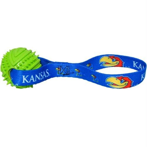 Kansas Jayhawks Rubber Ball Toss Toy