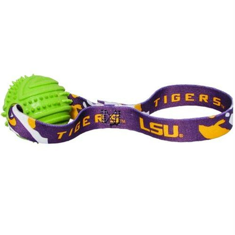 LSU Tigers Rubber Ball Toss Toy