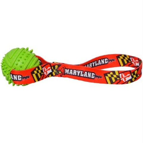 Maryland Terrapins Rubber Ball Toss Toy