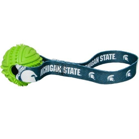 Michigan State Rubber Ball Toss Toy