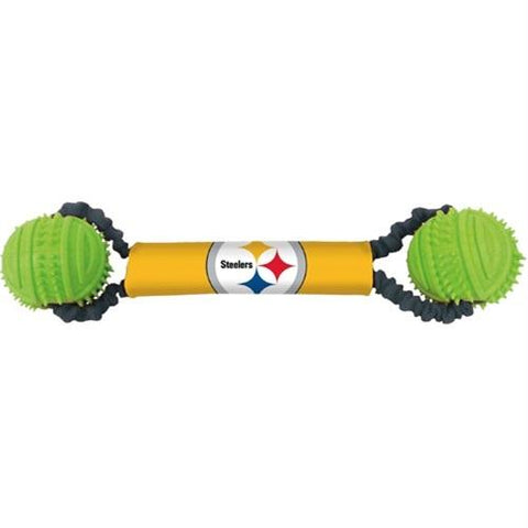Pittsburgh Steelers Double Bungee Tug-N-Toss Toy