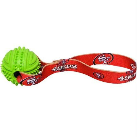 San Francisco 49ers Rubber Ball Toss Toy