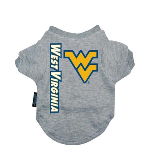 West Virginia Heather Grey Pet T-Shirt