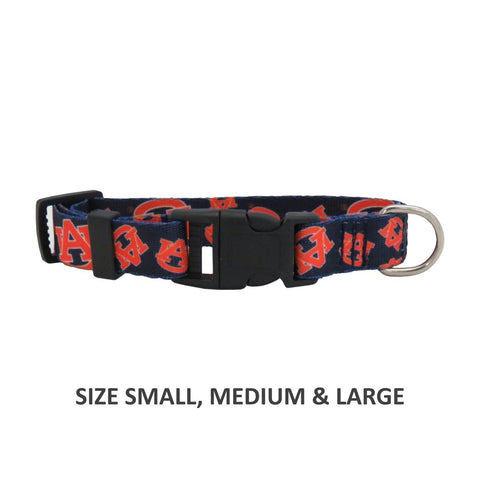 Auburn Tigers Pet Nylon Collar - Medium