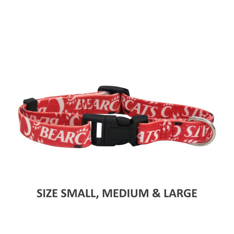 Cincinnati Bearcats Pet Nylon Collar - Medium