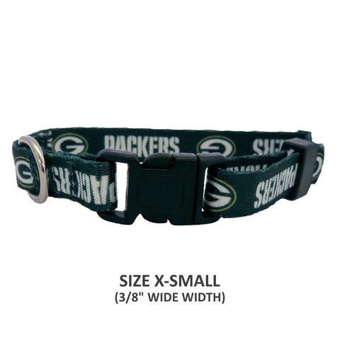 Green Bay Packers Pet Nylon Collar - XS