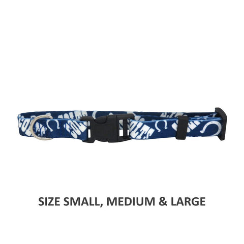 Indianapolis Colts Pet Nylon Collar - Large