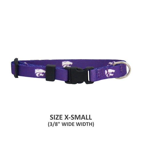 Kansas State Wildcats Pet Nylon Collar - Medium