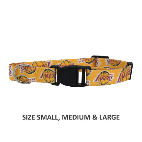 Los Angeles Lakers Pet Nylon Collar - XS