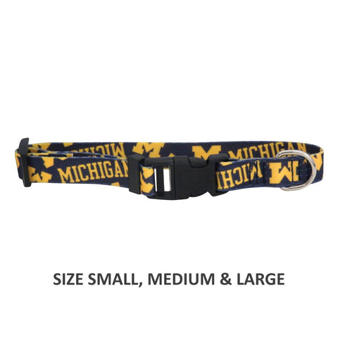Michigan Wolverines Pet Nylon Collar - XS