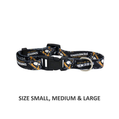 Pittsburgh Penguins Pet Nylon Collar - Small