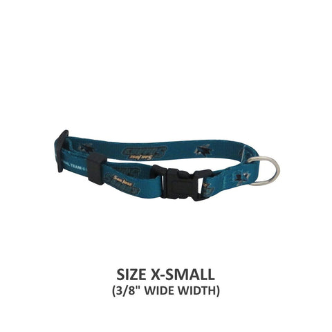 San Jose Sharks Pet Nylon Collar - XS