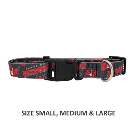Tampa Bay Buccaneers Pet Nylon Collar - Small