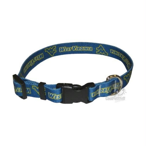West Virginia Mountaineers Pet Nylon Collar - Medium