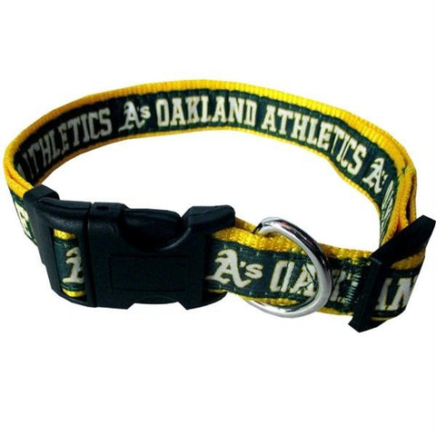Oakland A's Pet Collar by Pets First - XL