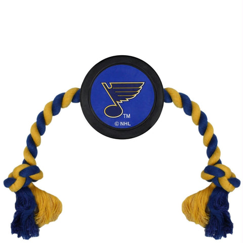 St. Louis Blues Pet Hockey Puck Rope Toy
