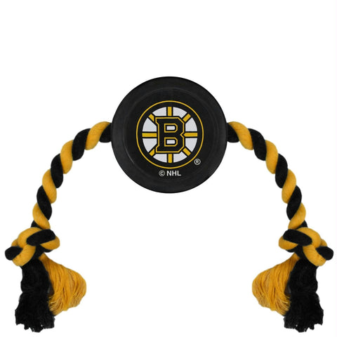 Boston Bruins Pet Hockey Puck Rope Toy