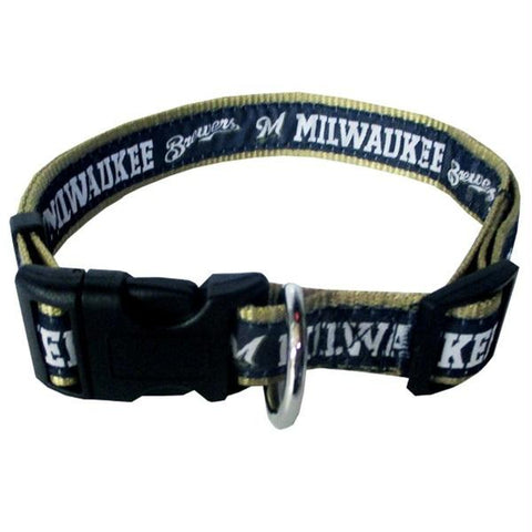 Milwaukee Brewers Pet Collar by Pets First - XL