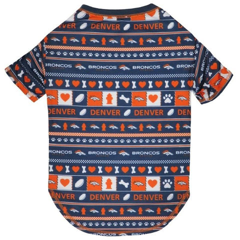 Denver Broncos Pet Novel-Tee