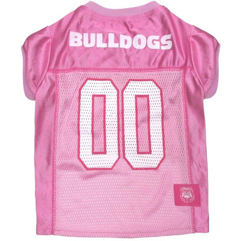Georgia Bulldogs Pink Pet Jersey