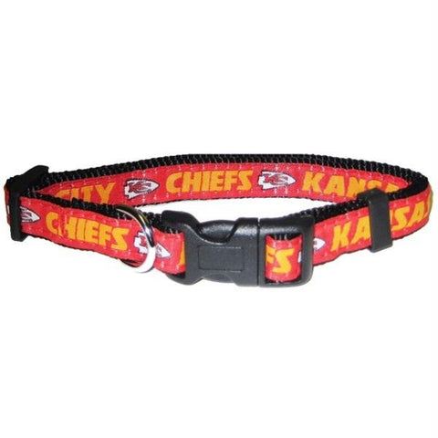 Kansas City Chiefs Pet Collar by Pets First - XL