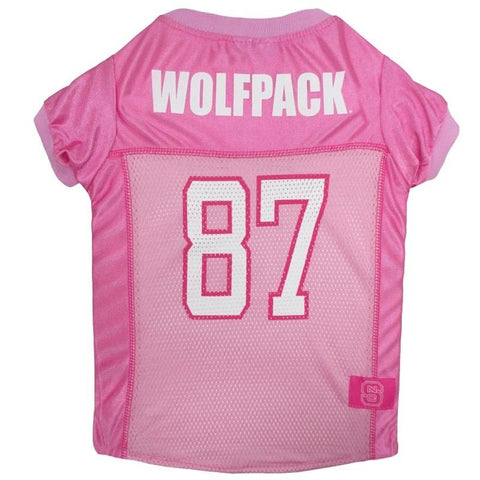 NC State Wolfpack Pink Pet Jersey