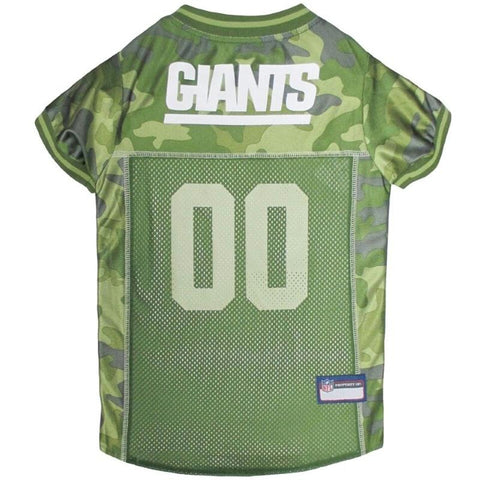 New York Giants Pet Camo Jersey