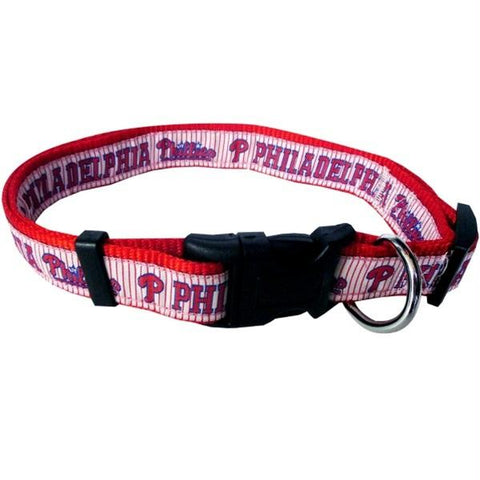 Philadelphia Phillies Pet Collar by Pets First - XL