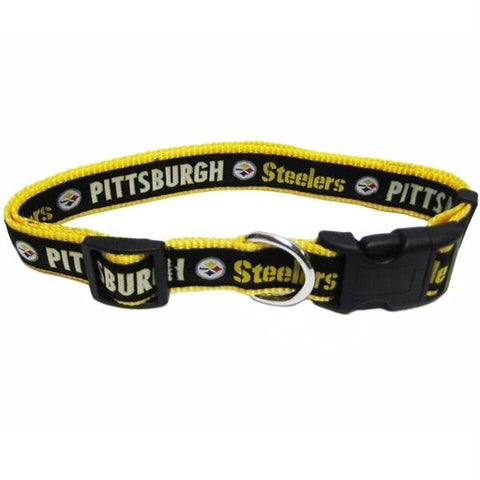 Pittsburgh Steelers Pet Collar by Pets First - XL