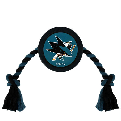 San Jose Sharks Pet Hockey Puck Rope Toy