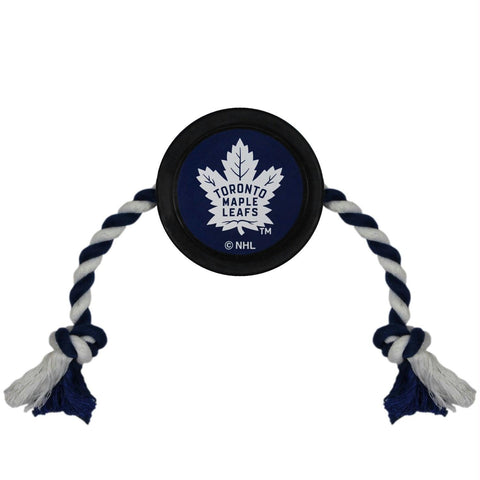 Toronto Maple Leafs Pet Hockey Puck Rope Toy
