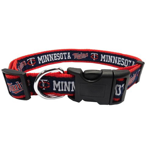 Minnesota Twins Blue Pet Collar by Pets First
