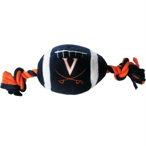 Virginia Cavaliers Plush Football Pet Toy