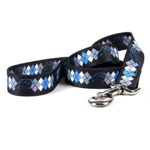 Carolina Panthers Argyle Nylon Leash