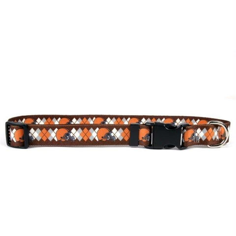 Cleveland Browns Argyle Nylon Collar