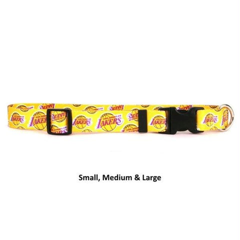 Los Angeles Lakers Nylon Collar - Small