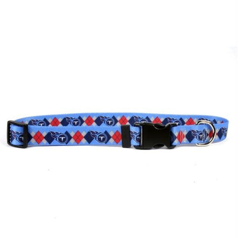 Tennessee Titans Argyle Nylon Collar