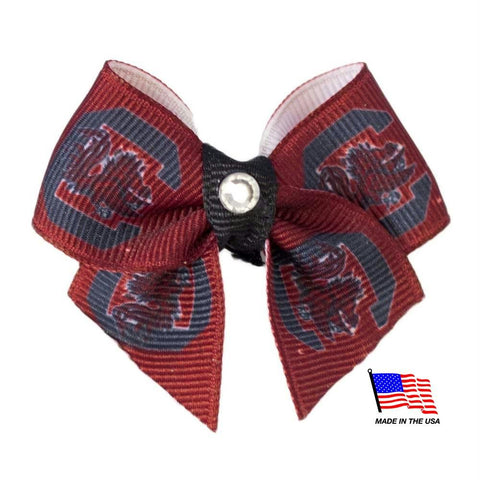 South Carolina Gamecocks Pet Hair Bow