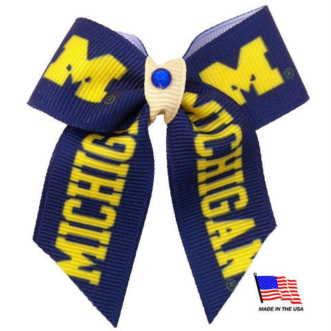 Michigan Wolverines Pet Hair Bow