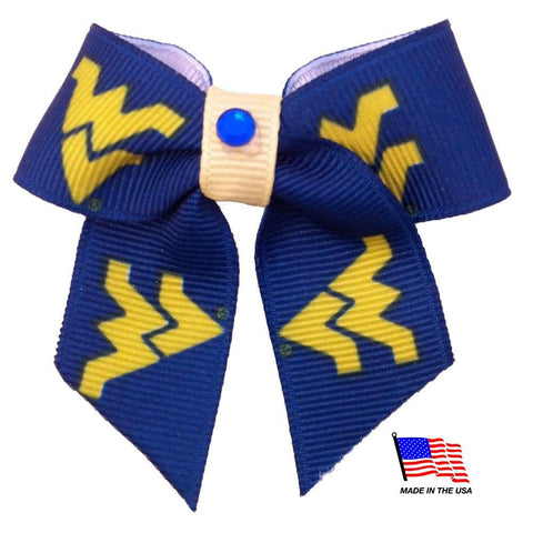 West Virginia Mountaineers Pet Hair Bow
