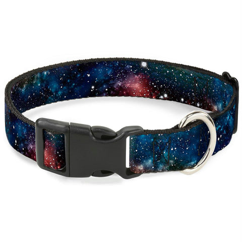 Buckle-Down Space Dust Collage Pet Collar - Large