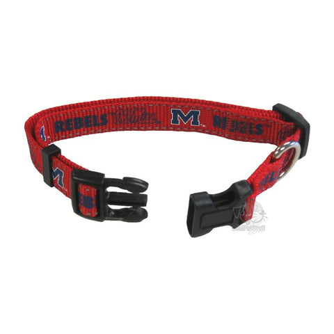 Ole Miss Rebels Pet Reflective Nylon Collar