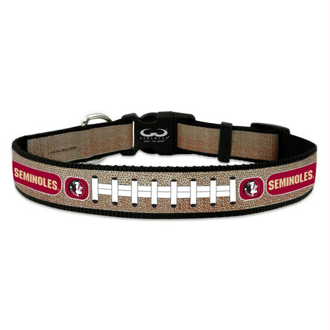 Florida State Seminoles Reflective Football Pet Collar