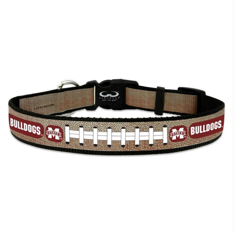 Mississippi State Reflective Football Pet Collar
