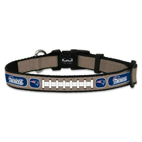 New England Patriots Reflective Football Pet Collar