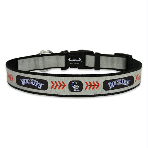 Colorado Rockies Pet Reflective Collar