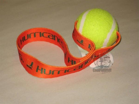 Miami Hurricanes Tennis Ball Toss Toy