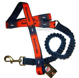 Denver Broncos Bungee Ribbon Pet Leash